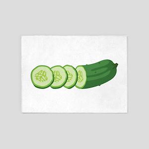 Sliced Cucumber Vegetable 5'x7'Area Rug