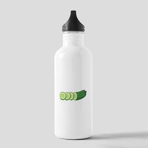 Sliced Cucumber Vegetable Water Bottle