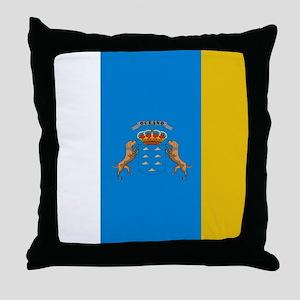 Canary Islands flag Throw Pillow