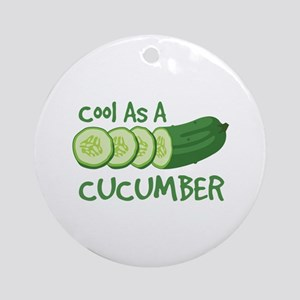 Cool As A CUCUMBER Ornament (Round)