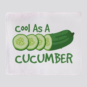 Cool As A CUCUMBER Throw Blanket