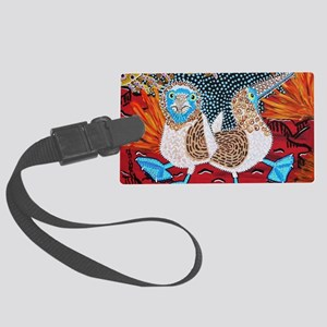 Blue Footed Booby Dance Large Luggage Tag