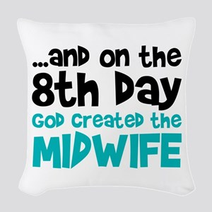 Midwife Creation Woven Throw Pillow