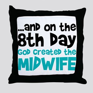 Midwife Creation Throw Pillow