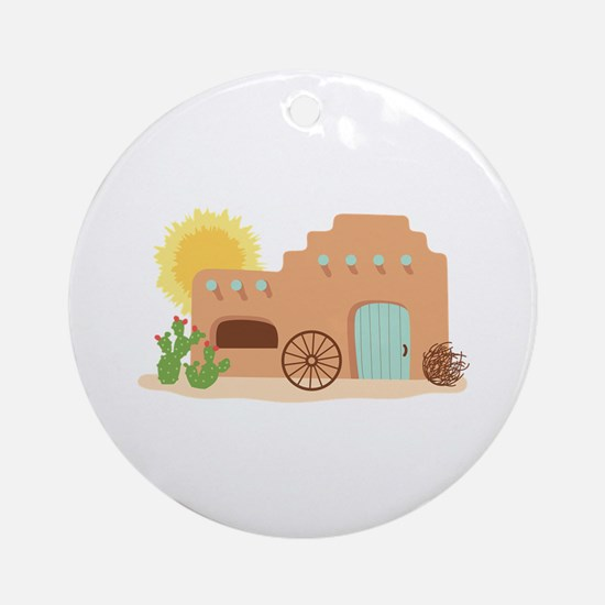 Adobe House Desert Ornament (Round)