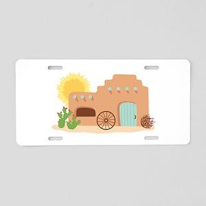 Adobe House Desert Aluminum License Plate