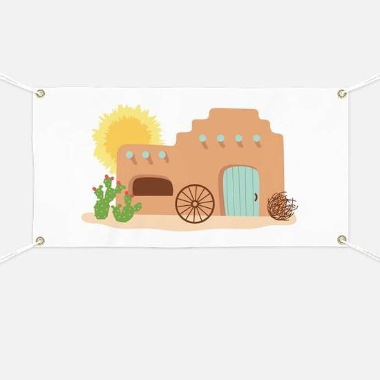 Adobe House Desert Banner
