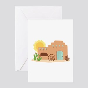 Adobe House Desert Greeting Cards