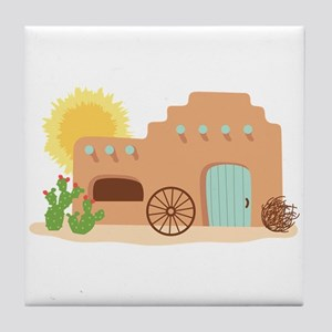 Adobe House Desert Tile Coaster