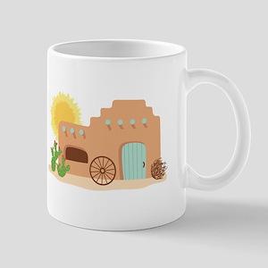 Adobe House Desert Mugs