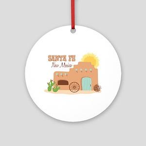 SANTA FE New mesico Ornament (Round)