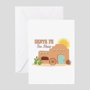 SANTA FE New mesico Greeting Cards