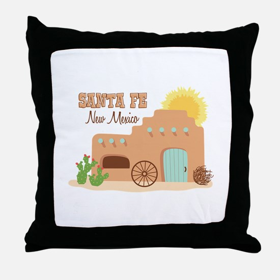 SANTA FE New mesico Throw Pillow