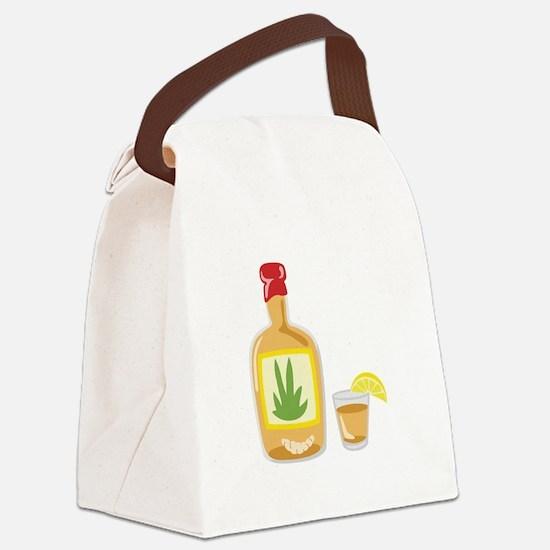 Tequila Bottle Shot Canvas Lunch Bag