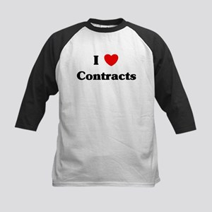 I Love Contracts Kids Baseball Jersey