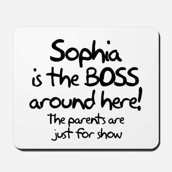 Sophia is the Boss Mousepad