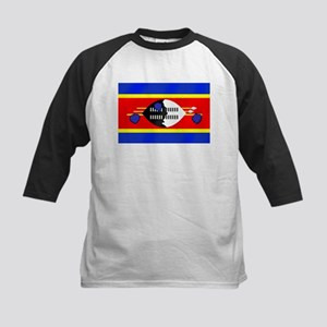 Flag of Swaziland Kids Baseball Jersey
