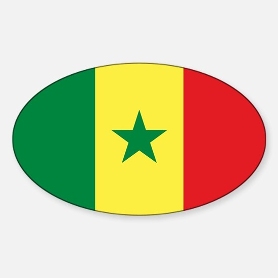 Flag of Senegal Sticker (Oval)
