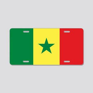 Flag of Senegal Aluminum License Plate