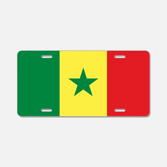 Flag of Senegal Aluminum License Plate