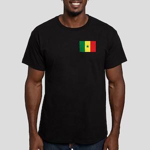 Flag of Senegal Men's Fitted T-Shirt (dark)
