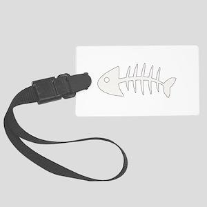 fish bones Luggage Tag