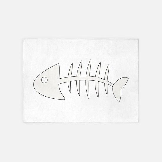 fish bones 5'x7'Area Rug