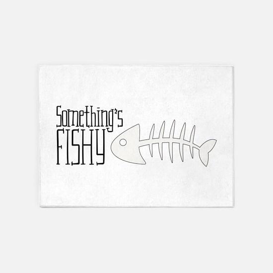 somethings FISHY 5'x7'Area Rug