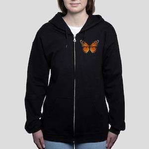 Monarch Butterfly Zip Hoodie