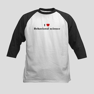 I Love Behavioral science Kids Baseball Jersey
