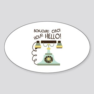 Bonjour! Ciao! Hola! Hello! Sticker