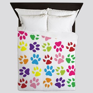 Paw prints Queen Duvet