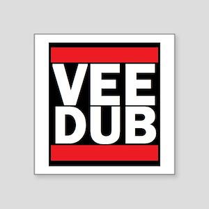 """Vee Dub Square Sticker 3"""" X 3"""""""