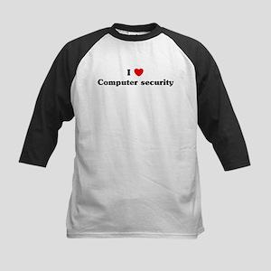 I Love Computer security Kids Baseball Jersey