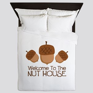 Welcome To The Nut House Queen Duvet