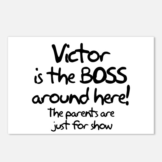 Victor is the Boss Postcards (Package of 8)