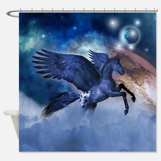 Little Pegasus Shower Curtain