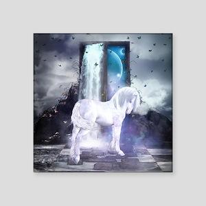 Silver Unicorn Sticker