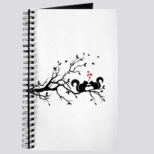 squirrel couple in love on tree branch Journal