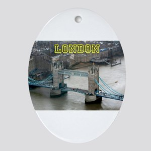 Tower of London Pro Photo Ornament (Oval)