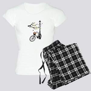 Old vintage bicycle with tree Pajamas
