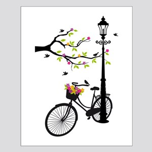 Old vintage bicycle with tree Posters