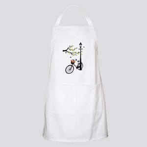 Old vintage bicycle with tree Apron