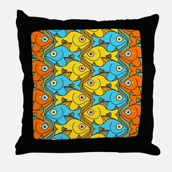 Something is Nicely Fishy Here Throw Pillow
