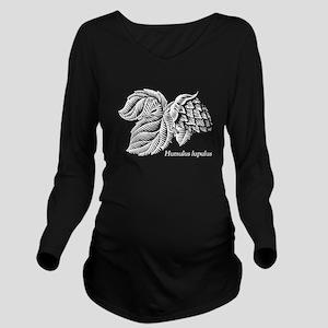 Hop Humulus lupulus Long Sleeve Maternity T-Shirt
