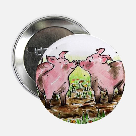 Kissing pigs Button
