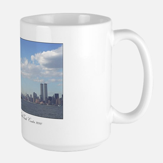 Statue of Liberty watches over N.Y.C. - Large Mug