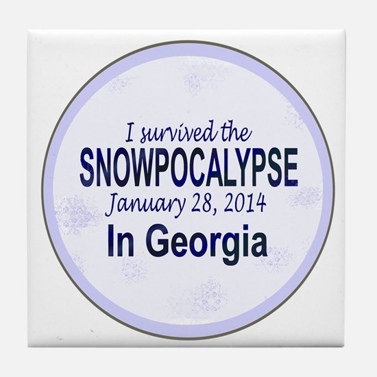 Snowcopalypse in Georgia Tile Coaster