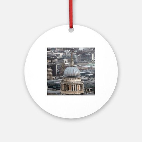 Iconic! St Pauls London Pro Photo Ornament (Round)