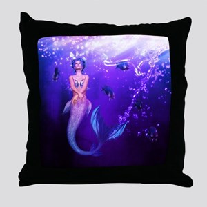 Rainbow Mermaid Throw Pillow